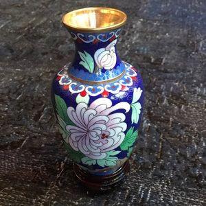 Chinese Cloisonné Enamel Vase
